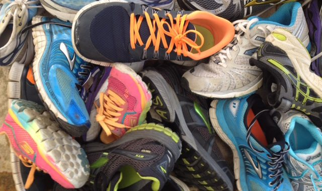 donate running shoes
